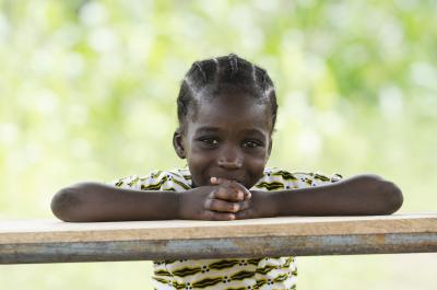little african girl smiling